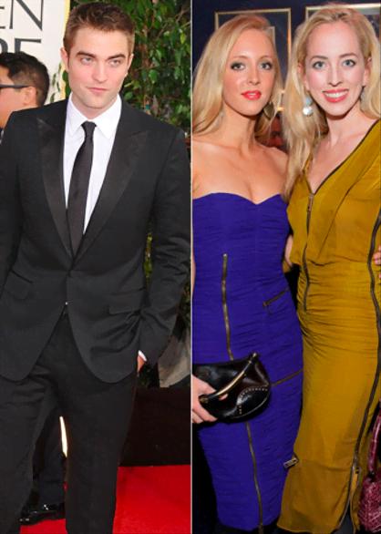 Celebridades hot con hermanos hot - Robert Pattinson y sus hermanas Lizzy y Victoria