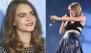 Cara Delevingne desfila en el escenario de Taylor Swift