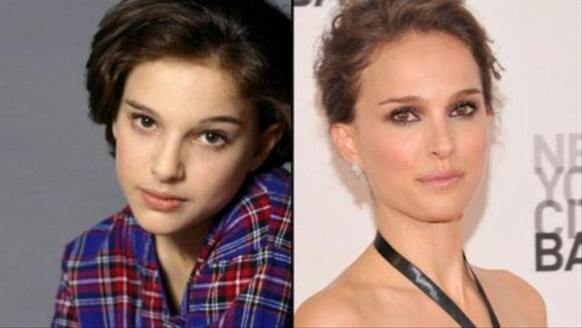 Celebridades antes y después - Natalie Portman