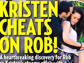 Kristen Stewart engañó a Robert Pattinson