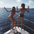 Los trajes de baño que usaron las Kardashians en sus vacaciones