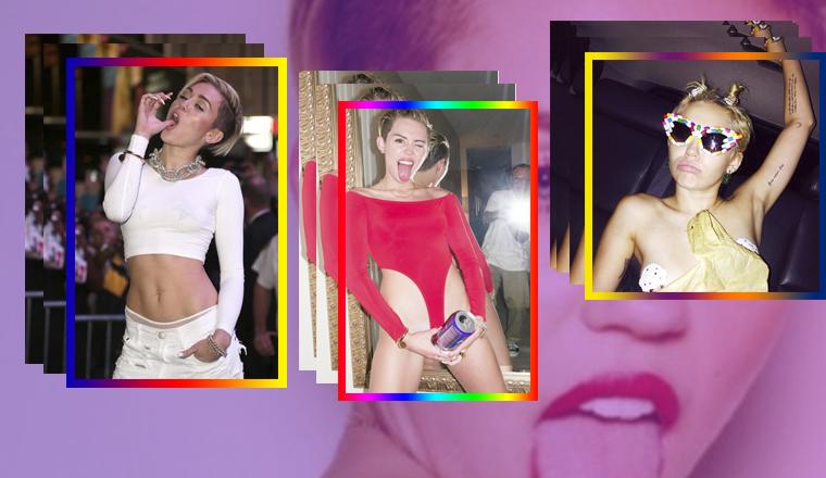 A Miley se le escapa el pezón en esta foto de Instagram