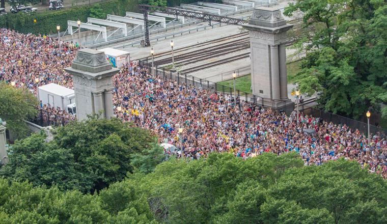 Tuvieron que evacuar a los asistentes de Lollapalooza y fue una locura