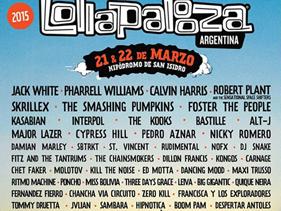 Lollapalooza Argentina 2015: ¡mira el cartel!