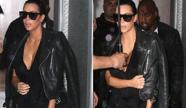 ¿A Kim se le nota la pancita?