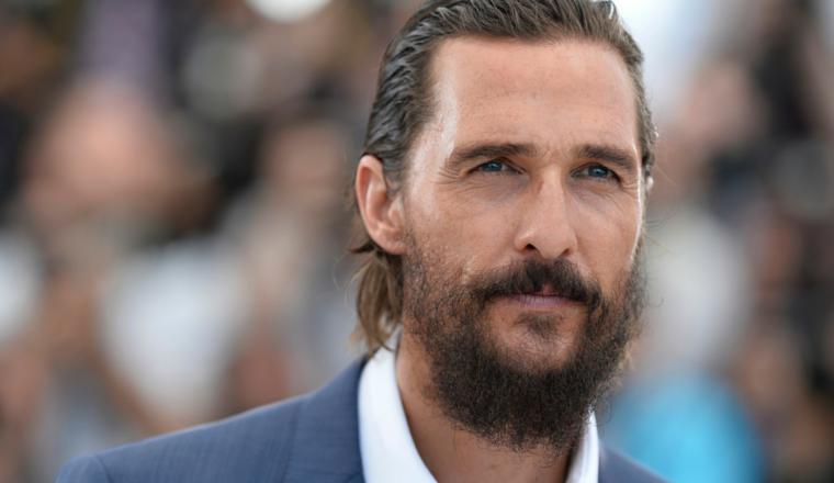 El extraño look de Matthew McConaughey para su nueva película